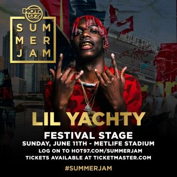 Festival stage performer Lil Yachty via Hot 97
