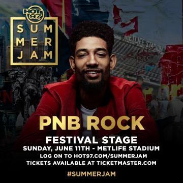 Festival stage performer PNB Rock via Hot 97