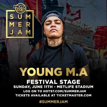 Festival stage performer Young MA via Hot 97