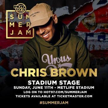 Main stage performer Chris brown via Hot 97