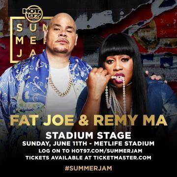 Main stage performer Fat Joe & Remy Ma via Hot 97