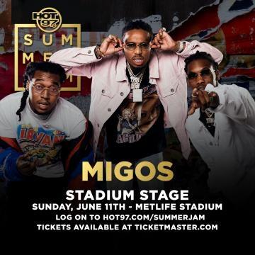 Main stage performer Migos via Hot 97