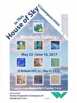 A flyer promoting the 'In This House of Sky' exhibition. / Photo via Karen Fitzgerald, used with permission.