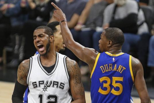 Kevin Durant leads Warriors past Spurs for 3-0 series lead – Las ... - reviewjournal.com