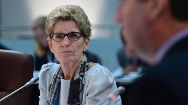 Ontario Premier Kathleen Wynne / Photo via Sean Kilpatrick, The Canadian Press
