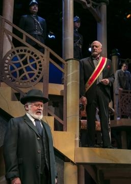 Shylock appears before Duke of Venice (Robert S. Gregory). Photo: Jerry Dalia/The Shakespeare Theatre of New Jersey, used with permission.