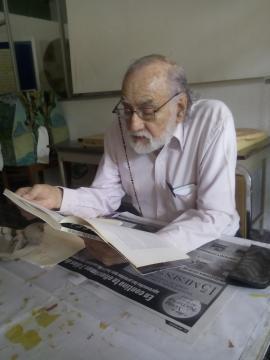 Óscar Oliva en el taller de poesía (archivo taller)