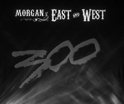 Cartel promocional del espectáculo de Morgan East & West