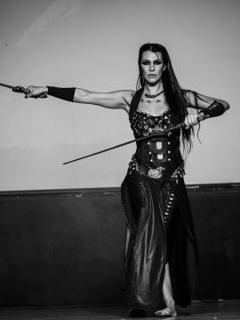 Detalle de Morgana interpretando a Artemisia