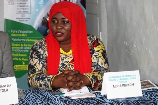 La Journaliste et membre du Festival Aisha Wirkom