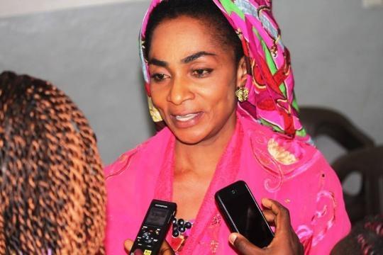 La présidente et fondatrice du Festival madame Njoya Mamboune Mariama