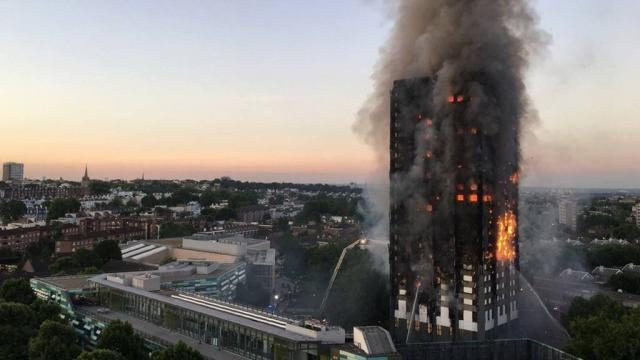 London fire: Six dead after blaze engulfs tower block - BBC News - bbc.com