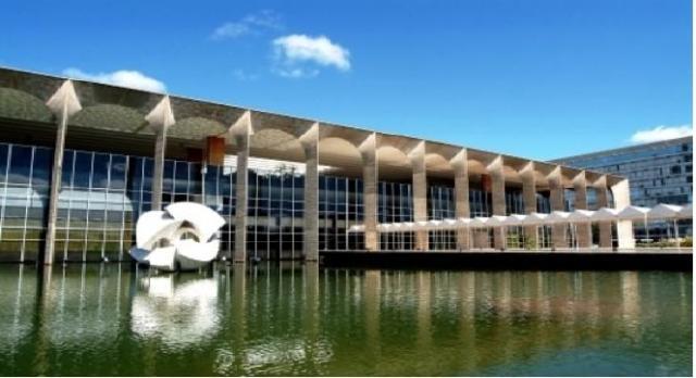 Fachada do Palácio do Itamaraty em Brasília