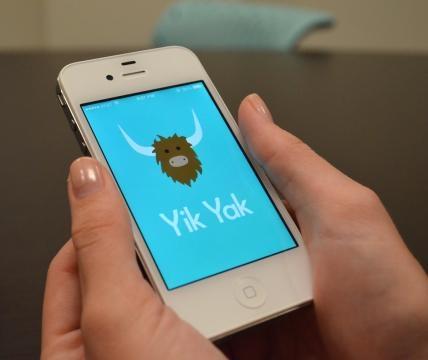 Logo di Yik Yak, startup fondata da due studenti della Furman University