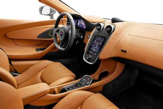 McLaren 570S leather interior.