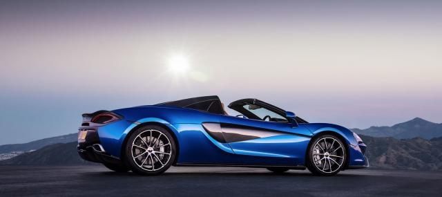 McLaren 570S Spyder, blue edition.