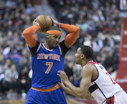 Melo getting ready to shoot, photo by Keith Allison via Flickr.