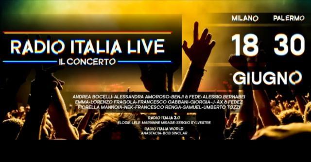 Radio Italia live 2017 concerti gratis a Milano e Palermo