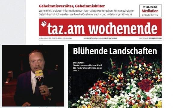 Das RTL-Nachtjournal berichtete auch kritisch (li., kleines Foto). Die taz. schrieb von