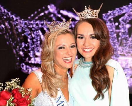 Miss New Jersey 2017 Kaitlyn Schoeffel with Miss New Jersey 2016 Brenna Weick - Photo © Joe Whiteko; used by permission