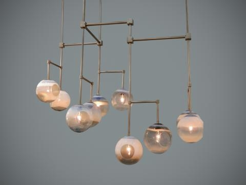 Jamie has sued his expertise in glass to design many sculptural lights. / Photo via Jamie Harris, used with permission.