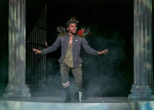 Shakespeare's 'A Midsummer Night's Dream': Felix Mayes as Puck. Photo: Jerry Dalia/The Shakespeare Theatre of New Jersey, used with permission.