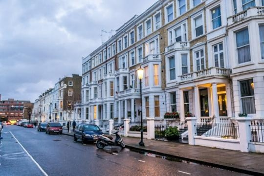 Economic disparity: Housing in Earls Court.