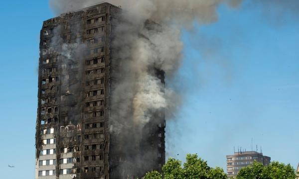 Grenfell Tower. Photographer: Will Oliver/ EPA
