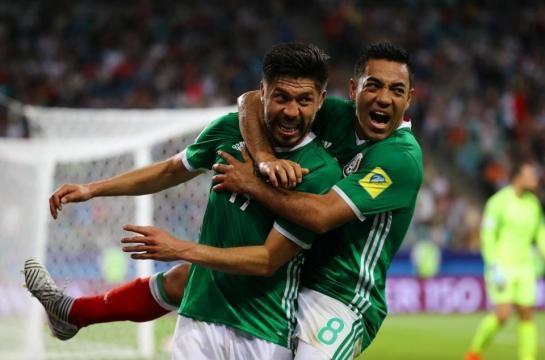 Mexico celebrating a goal ... - thesun.co.uk