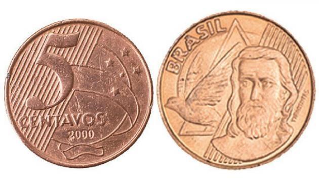 Moeda de R$ 0.05 centavos (Imagem: Reprodução/Google)