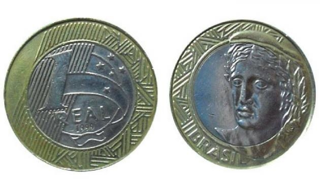 Moeda de R$ 1.00 (Imagem: Reprodução/Google)