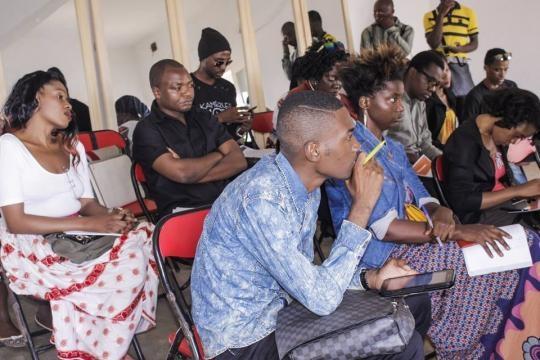 Journalistes culturels lors de la conférence de presse