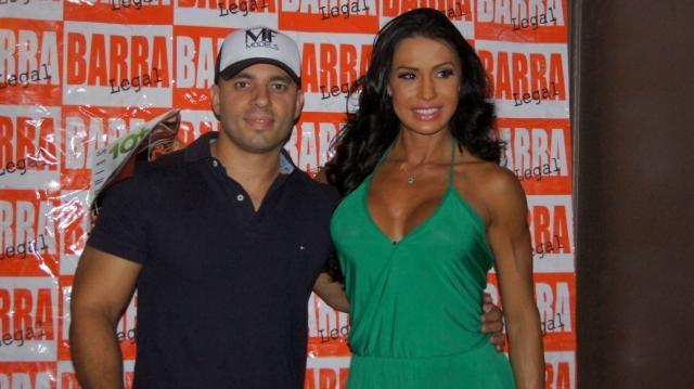 Fabiano de Abreu com Gracyanne Barbosa.