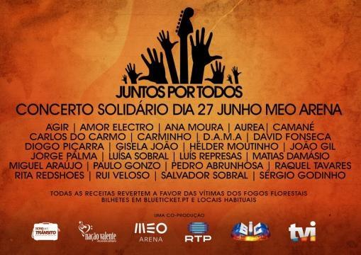 Artistas portugueses unem-se em concerto solidário.