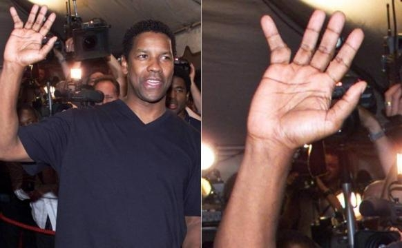 Denzel Washington e seu dedo torto
