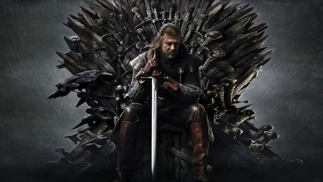 Game of Thrones Eddar Stark en el trono de hierro