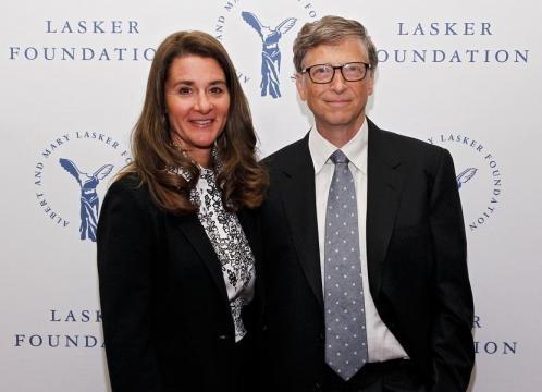 Bill Gates y su mujer, durante un acto de su fundación