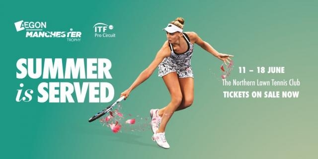 Naomi Broady leads the home interest for a high quality Tennis tournament in Manchester Picture by (@TheNorthernMCR) | Twitter - twitter.com