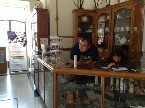 Tienda de curiosidades al Interior del Reloj Monumental en el centro histórico de Pachuca.