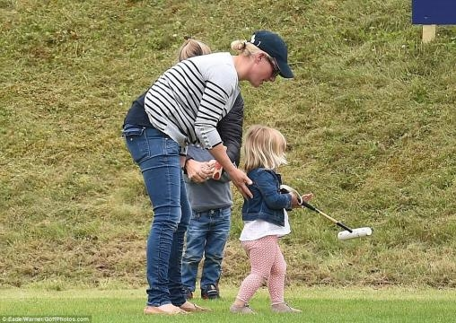 Zara Phillips talks to daughter Mia Tindall as Prince Harry looks on at Beaufort Polo Club in ... - ghanagrio.com