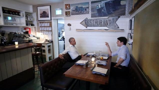 Barack Obama, Justin Trudeau dine together in Canada - washingtonexaminer.com