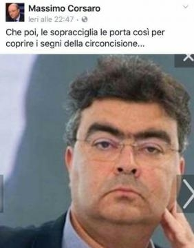 Il post de deputato Corsaro dal retrogusto antisemita.