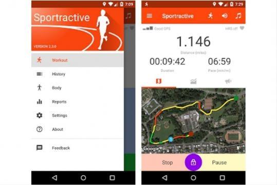 se ami correre molte app ti aiutano nel creare mappe giornaliere