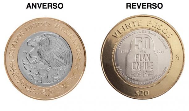 Nueva moneda de 20 pesos conmemora los 50 años del Plan DN-III-E ... - televisa.com