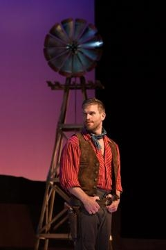 Jarrett Ott as Curly McClain in Rodgers and Hammerstein's 'Oklahoma!' Photo: Karli Cadel/The Glimmerglass Festival, used with permission.