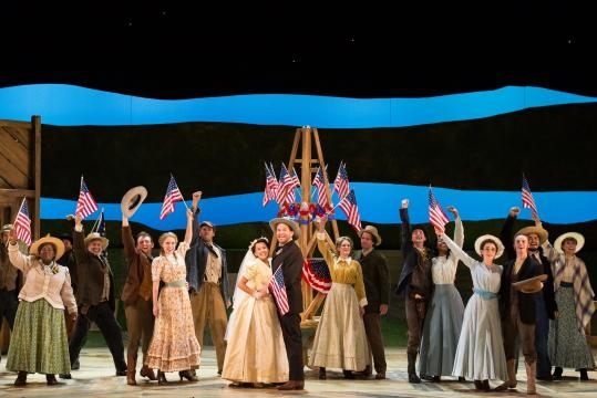 The ensemble of Rodgers and Hammerstein's 'Oklahoma!' Photo: Karli Cadel/The Glimmerglass Festival, used with permission.