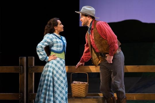 Vanessa Becerra as Laurey and Jarrett Ott as Curly in 'Oklahoma!' Photo: Karli Cadel/The Glimmerglass Festival, used with permission.