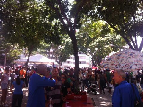 Así se observó la participación en el punto de votación para la consulta opositora ubicado en Parque Carabobo, Caracas