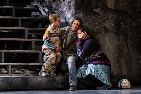 Aurelio (Aleks Romano), Filippo (Rock Lasky) and Eleonora (Leah Crocetto). Photo: Karli Cadel/The Glimmerglass Festival, used with permission.