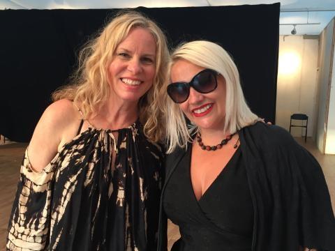 Chatting to Vonda at Henley Festival